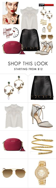 """""""Tootles #happyhour"""" by mz-jill ❤ liked on Polyvore featuring 10 Crosby Derek Lam, Anine Bing, Imagine by Vince Camuto, MICHAEL Michael Kors, Venus, Yves Saint Laurent, Kenneth Jay Lane and KAROLINA"""