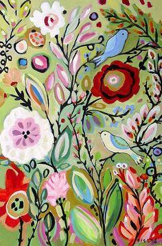 Bohemian Art | Art: Bohemian Garden by Artist Karen Fields