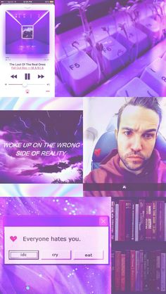 Pete Wentz: my love forever...with purple everything.