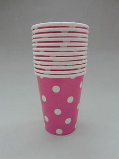 Polka Dot Party Cups - Pink/White