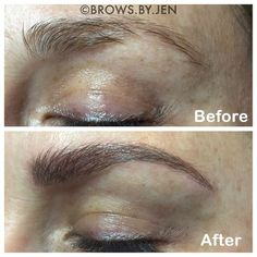 Have you heard of microblading? It's different than tattooing brows because with a microblade, the strokes of ink look like hair.