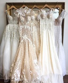 Is this the perfect lineup? Which gown would you choose? Fancy Wedding Dresses, Wedding Gowns, Prom Dresses, Pretty Dresses, Beautiful Dresses, Perfect Wedding, Dream Wedding, Sweet Dress, Vintage Bridal