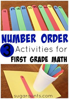 Work on the first grade math concepts of number order, place value, and least and greatest with this math activity.