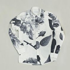 Rasmussen Black Rose Printed Shirt