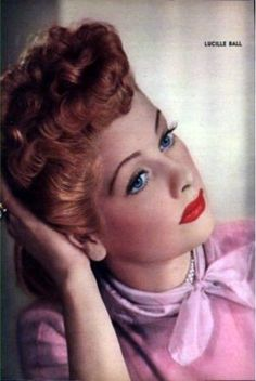 Lucille Ball~pretty in pink....