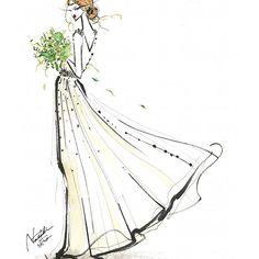 リクルート『ゼクシィ』アプリイラストです✨  個人的には、儀式などは、伝統を重んじた、ひたすらクラシックが好き!ですが😊  ゆるやかで、風とガーデンウェディングが似合うこんなドレスも、ナチュラルで素敵🍀  #ゼクシィ #リクルート #recruit #wedding #weddingdress #dress #watercolor #illustration #fashionillustration #fashion #illust #natsukiito #illustrator #art #drawing #painting #伊藤ナツキ #イラスト #イラストレーター