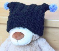 """Čepice s """"rohy"""" Fingerless Gloves, Arm Warmers, Knitted Hats, Diy And Crafts, Knitting, Children, Post, Babies, Winter Accessories"""