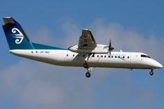 We flew on an Air New Zealand Bombardier Q300 aircraft from New Plymouth to Auckland in February 2011.