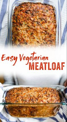 This vegetarian meatloaf is hearty and pleases even the most passionate of meat eaters! It's a family favorite dinner party recipe. dinner christmas Best Vegetarian Meatloaf – A Couple Cooks Vegetarian Meatloaf, Tasty Vegetarian Recipes, Vegetarian Main Dishes, Vegetarian Recipes Dinner, Meatloaf Recipes, Veggie Dishes, Vegan Dinners, Veggie Recipes, Beef Recipes