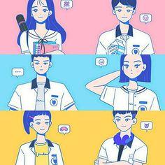 Korean Art, Korean Drama, Teen Web, Teen Images, Teen Series, Age Of Youth, Web Drama, Anime Hair, K Idol