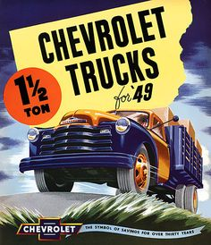 Chevrolet Trucks 1949 - Mad Men Art: The 1891-1970 Vintage Advertisement Art Collection