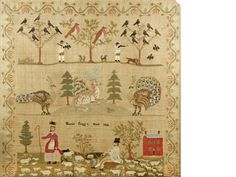 A large early Victorian needlework pictureby Harriet Cragg 1838