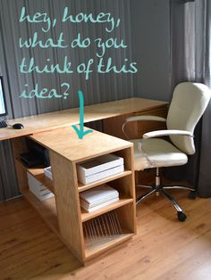 I want to make this!  DIY Furniture Plan from Ana-White.com  Free woodworking plans to build a large contemporary style bookcase for a modern home office. Featuring step by step diagrams, cut list and shopping list, these beginning do it yourself furniture plans are designed for anyone to build with simple tools and off the shelf materials.