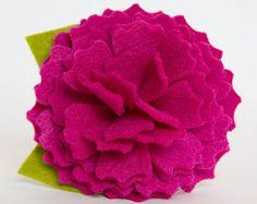 Fieltro flor para Collar de perro  flor roja
