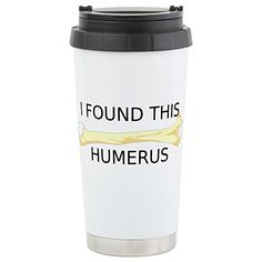 CafePress - HUMERUS - Stainless Steel Travel Mug, Insulated 16 oz. Coffee Tumbler *** Learn more by visiting the image link.