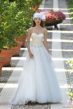 eme di eme wedding dresses 2013 strapless romantic tulle gown