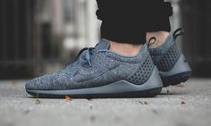 """Nike's sleek Lunarestoa 2 SE silhouette has just arrived in a """"Cool Grey"""" colorway for fall and winter. The kicks note Flyknit construction on the upper, while a Lunarlon midsole provides cushioning and comfort underneath. Dark Swoosh…"""