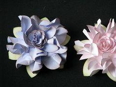 beautiful ruffled paper flower tutorial DIY