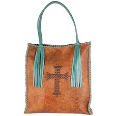 Browsing Store - KurtMen Design Mya Tooled Handbag ($355) ❤ liked on Polyvore