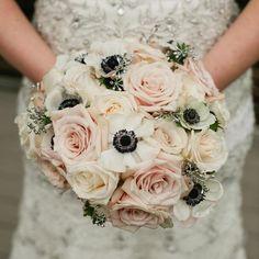 Pozytywne Inspiracje Ślubne: Bukiet ślubny - anemony i róże