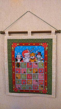 Painel calendário de Natal