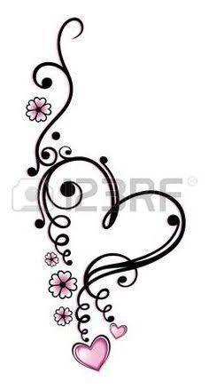 Zwart, roze vector series, Valentijnsdag photo - Tattos Tattoos And Body Art heart tattoo designs Future Tattoos, Love Tattoos, Beautiful Tattoos, Body Art Tattoos, New Tattoos, Small Tattoos, Tattoos For Women, Tatoos, Tribal Foot Tattoos