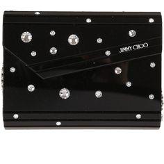 Jimmy Choo Clutches ($625) ❤ liked on Polyvore featuring bags, handbags, clutches, crystal, jimmy choo, jimmy choo handbag, round purse, jimmy choo purses and round handbag