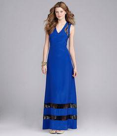 GB Lace-Insert Maxi Dress   Dillards.com
