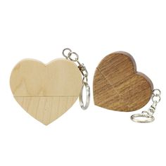Gift Wooden Customized Wood Heart Shaped USB Flash Drive USB2.0 Flash Drive 4G 8GB 16GB 32GB 64GB Pen Drive Memory Stick   iLuvHearts