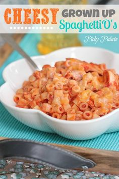 Cheesy Grown Up SpaghettiOs - I bet this would be good replacing the ranch mix with italian dressing mix too!