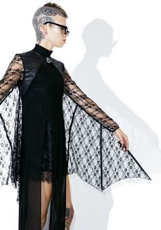 okaywowcool:  lace bat wing shrug| $30