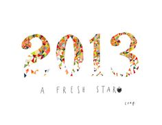 2013: A fresh start. New Year's cards from Emily McDowell.