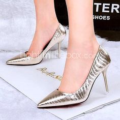Womens Shoes AmiGirl Best Sale Patent Leather Stiletto Heels with Flow  Mark Party Dress Black Gold Silver