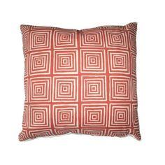 Quadrille ziggurat orange pillow