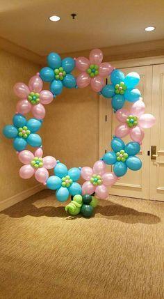 Birthday Decorations At Home, Balloon Decorations Party, Baby Shower Decorations, Balloon Backdrop, Balloon Columns, Balloon Garland, Photo Ballon, Deco Ballon, Balloon Crafts