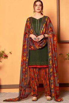 Patiyala Dress, Daily Wear, Ethnic, Swarovski, Sari, Buttons, Suits, How To Wear, Dresses