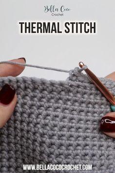 Easy Crochet Stitches, Crochet Stitches For Beginners, Crochet Videos, Crochet Basics, Crochet Blanket Patterns, Knitting Stitches, Knitting Patterns, Start Knitting, Bubble Crochet Stitch