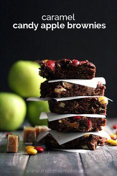 Caramel Candy Apple Brownies | Melanie Makes