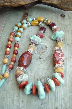 Boho Chunky Gemstone Necklace Southwest Jewelry by BohoStyleMe...love this look