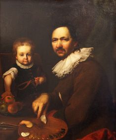 1713 Self Portrait With Daughter by Jan Kupecky
