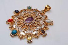 Gorgeous Navaratna Diamond Pendant