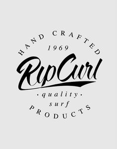 Rip Curl Lockups on Behance Rip Curl, Surf Logo, Surf Brands, Famous Logos, School Logo, Photo Wall Collage, Sketch Design, Printed Shirts, Tee Shirts