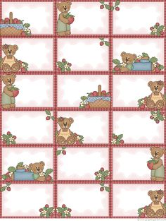 Free printable Strawberry Bears labels (& many more designs!) from Graphic…