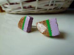 Martinuska / S fialovým pásikom/cork earrings
