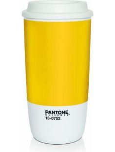 Pantone Universe To-Go Cup, Buttercup ❤ ROOM Copenhagen, Inc.