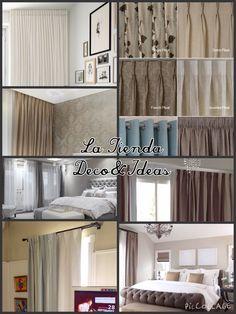 Estilos de cortinas, en diferentes telas y cabezales, by La Tienda Deco&Ideas. Latiendadecoideas&gmail.com