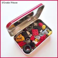 : Lego Travel Kit {Altoid Tin Version}  This makes me think of other little things to add, like a small package of playdough, puzzles, etc.