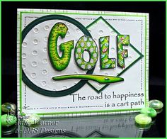 DRS Designs Rubber Stamps: Golf