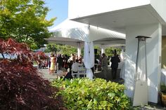 Reception on the outdoor patio