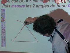 Utilisation du TBI pour des séances de géométrie. Démonstration d'utilisation des outils, de méthode de mesure...
